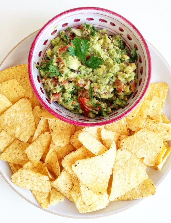 Snelle homemade guacamole