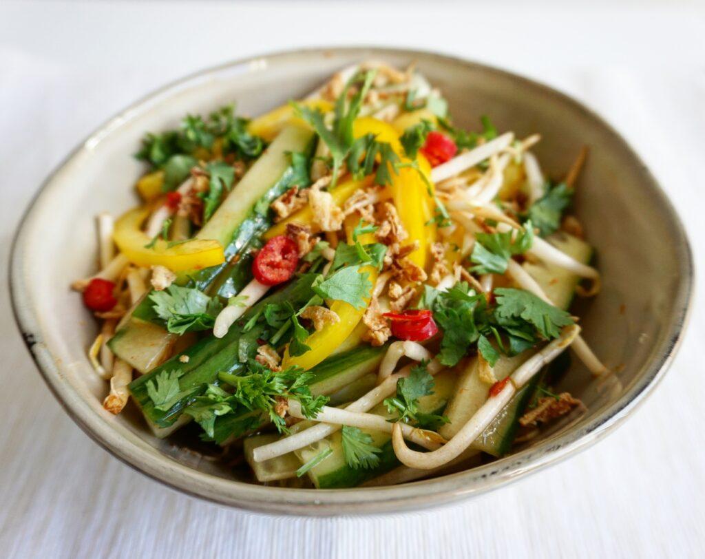 Thaise salade met taugé