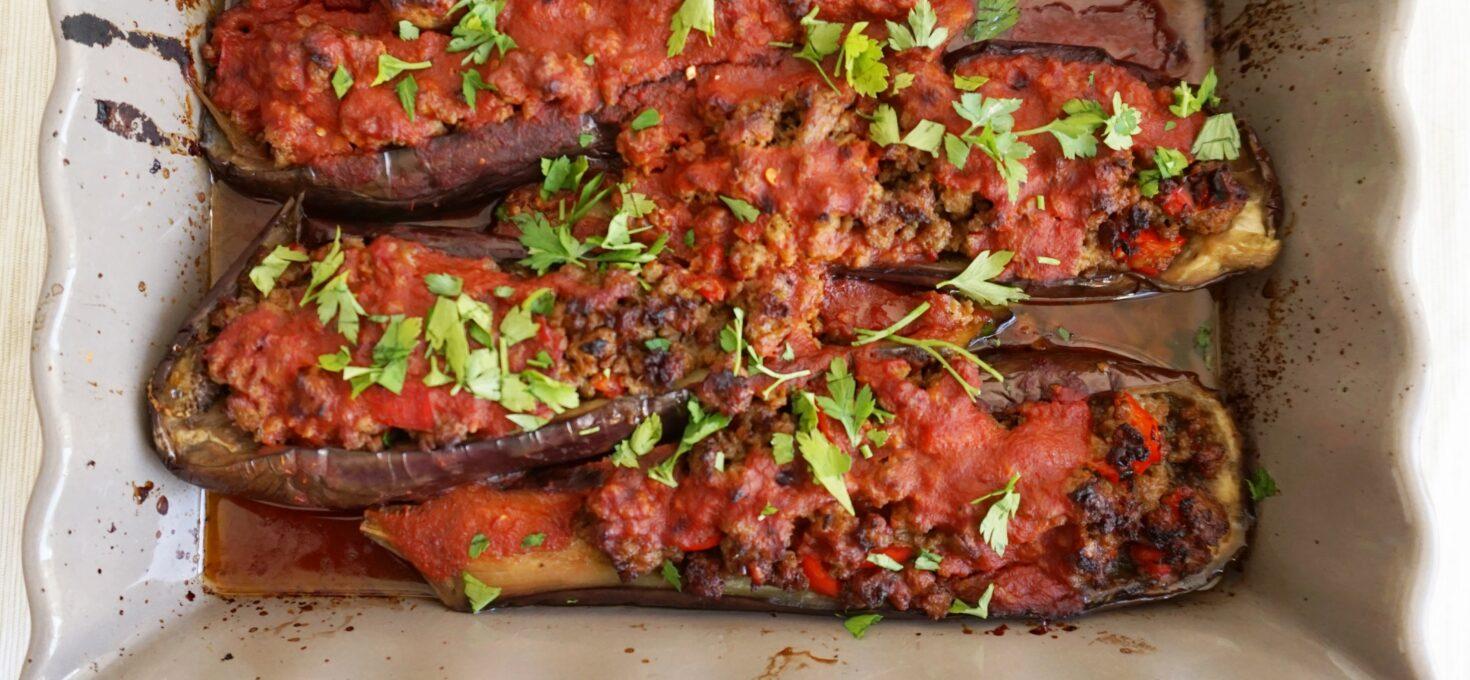 Karniyarik – Turkse gevulde aubergines met lamsgehakt