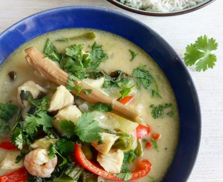 Thaise groene viscurry