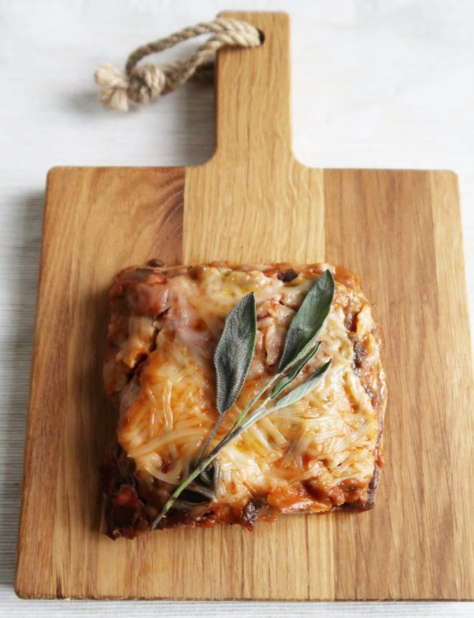 Aubergine lasagne (vegan)