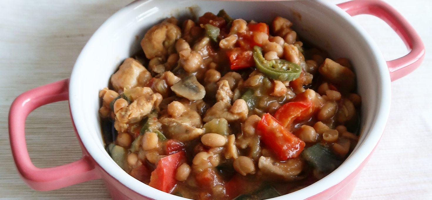 Witte bonen pannetje met kip en groente