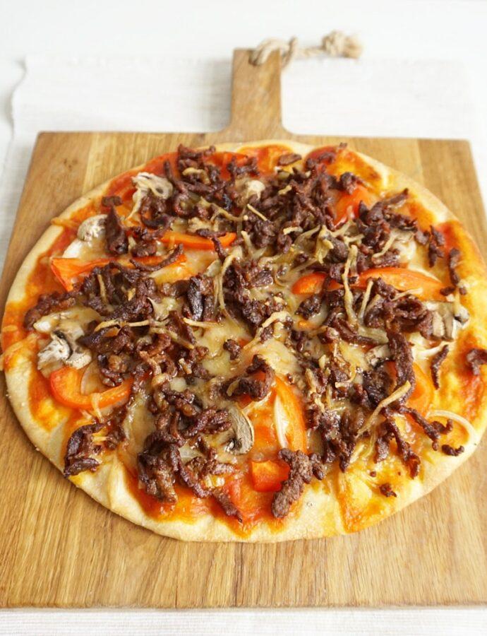 Pizza met lamsshoarma