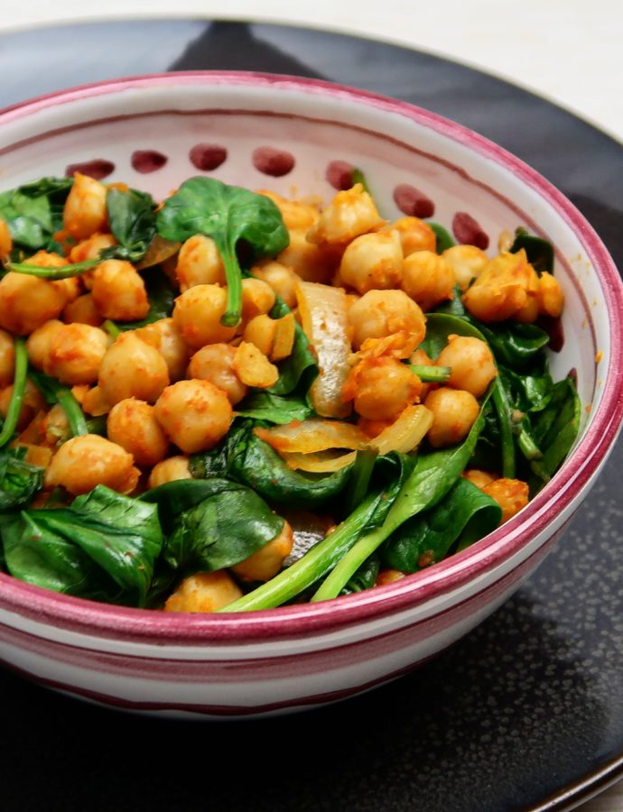 Surinaamse Goegerie met spinazie
