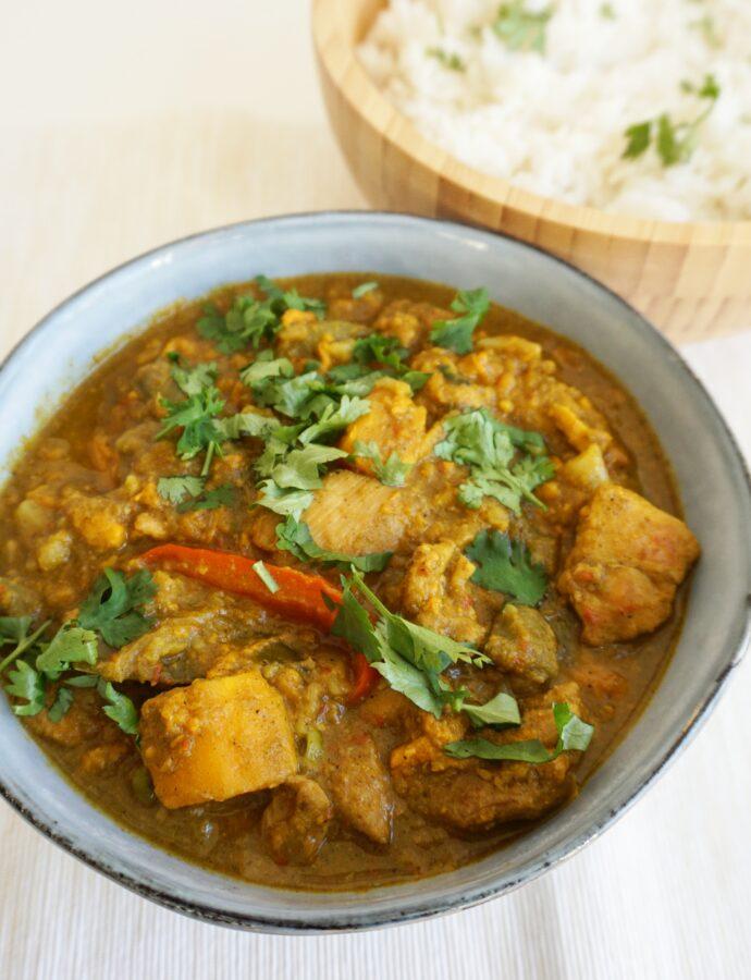 Thaise Massaman curry met zoete aardappel