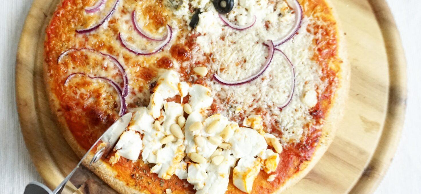 Pizza Quattro Formaggi met geitenkaas en schapenkaas