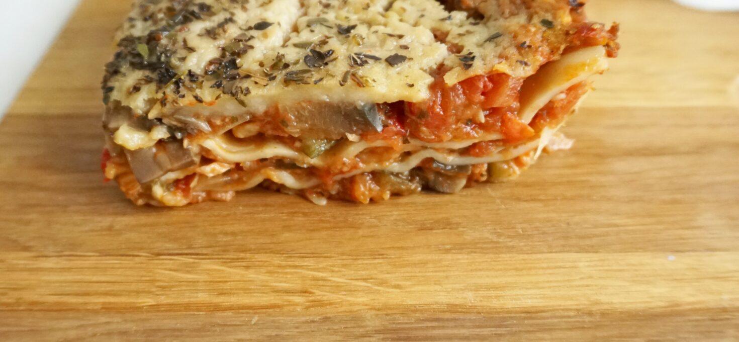 Lasagne met tonijn en Mediterraanse groente