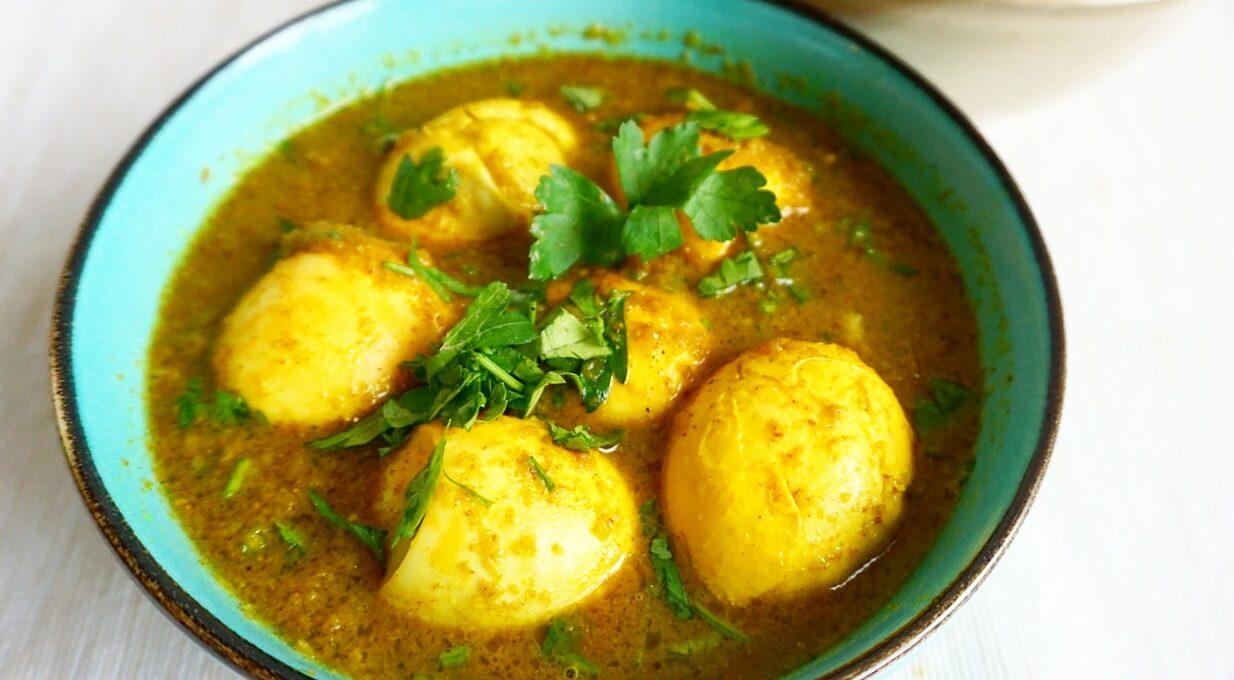 Surinaamse eieren in masala