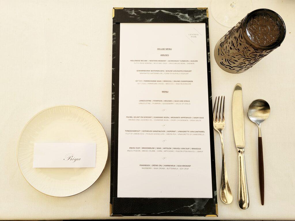 Fine Dining bij Central Park in Voorburg