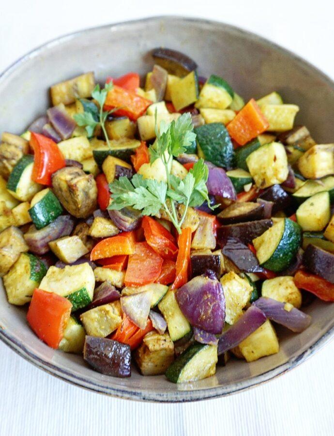 Geroosterde groente met ras el hanout