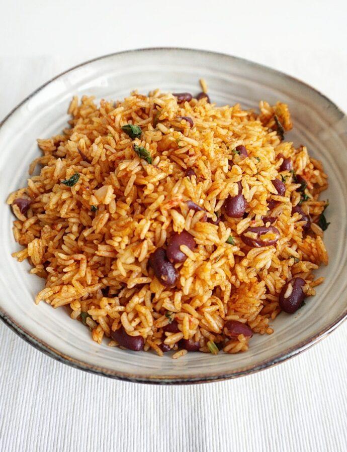 Antilliaanse Arroz Moro, rijst met bonen
