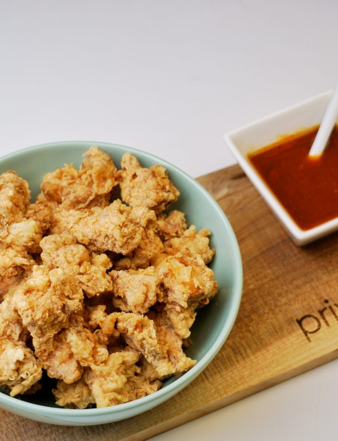 Kipnuggets met tempura